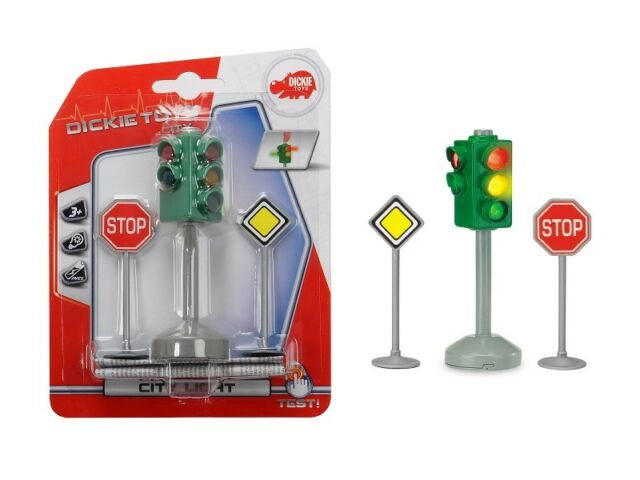 Dickie Toys 203341000 - City Light/Traffic Light with Automatic Change - New
