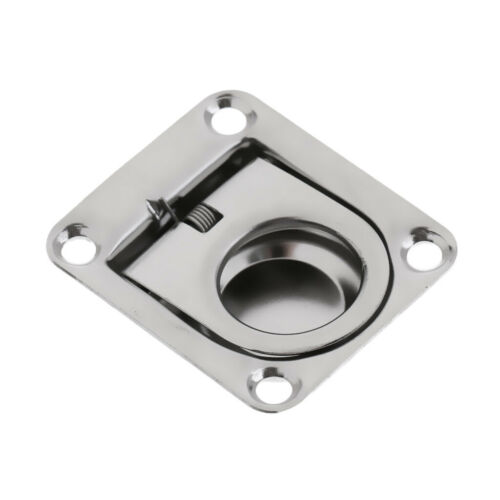 Qty 2 Marine Boat Deck Hatch Flush Ring Pull Stainless 2-1//4 inch x 2-5//8 inch
