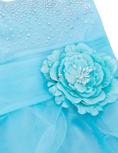 Flower Girl Princess Tutu Dress Kids Party Pageant Wedding Bridesmaid Ball Gown
