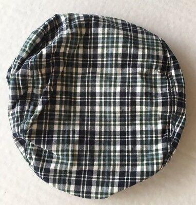 GYMBOREE SUMMER GUY GREEN PLAID DRIVING CAP HAT 3 4 5 7 8 9 10 NWT
