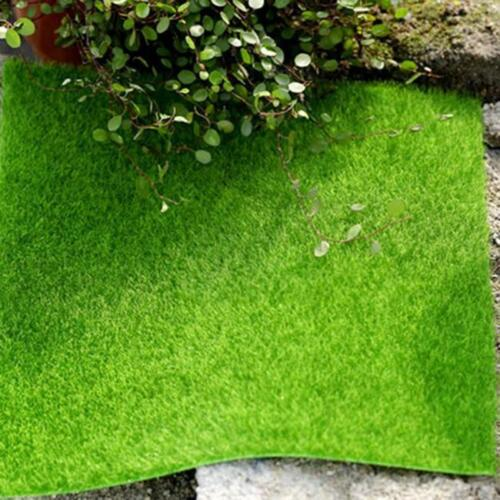 Artificial Grass Mat Small Green Lawn Turf Fake Sod Moss Carpet Garden Decor LP