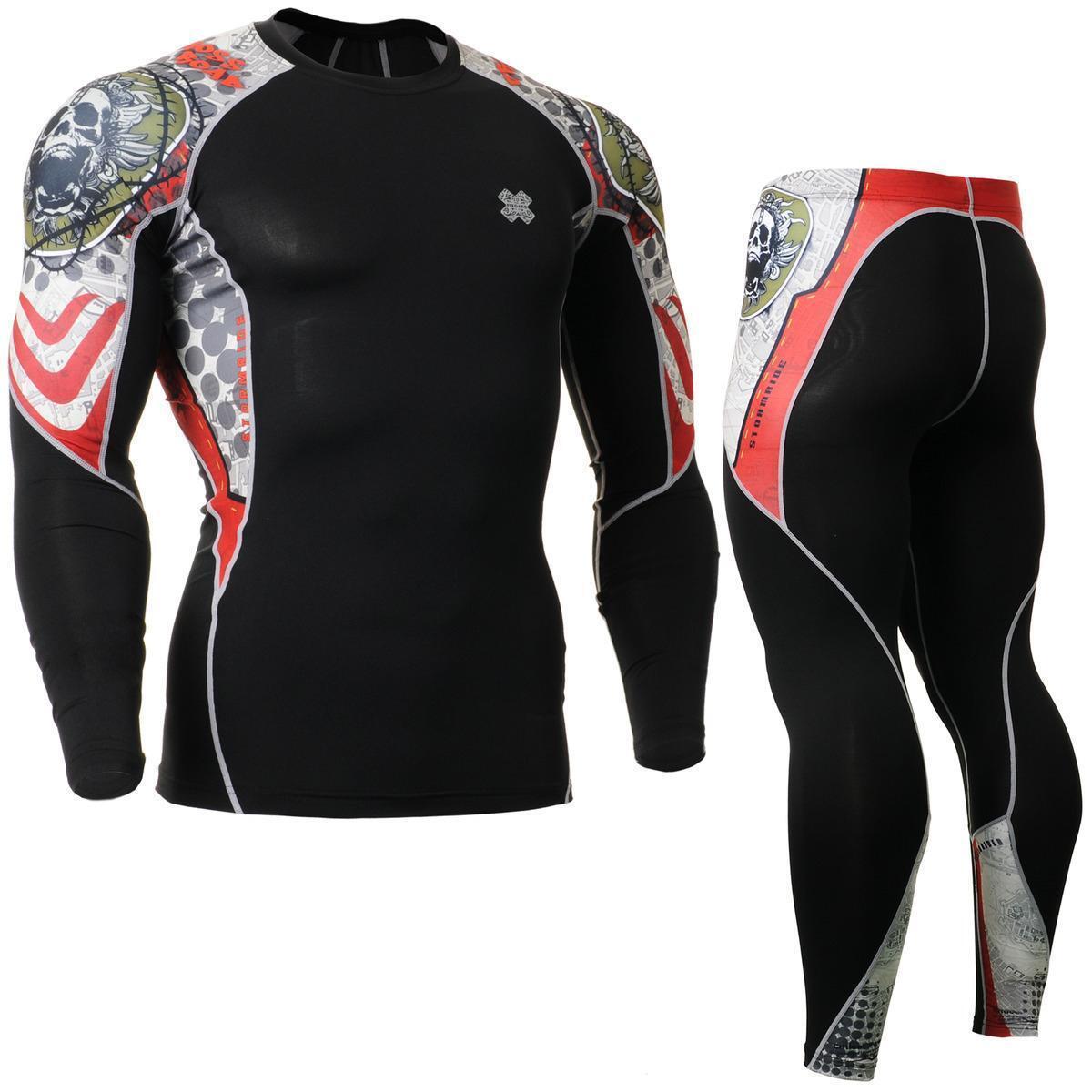 FIXGEAR C2L P2L-B5 Compression  Shirts & Pants Set Sportswear MMA Training Gym  fashion brands