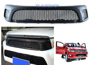 Matte-Black-Front-Grill-Grille-For-Toyota-Hilux-Revo-Sr5-M70-M80-2015-17