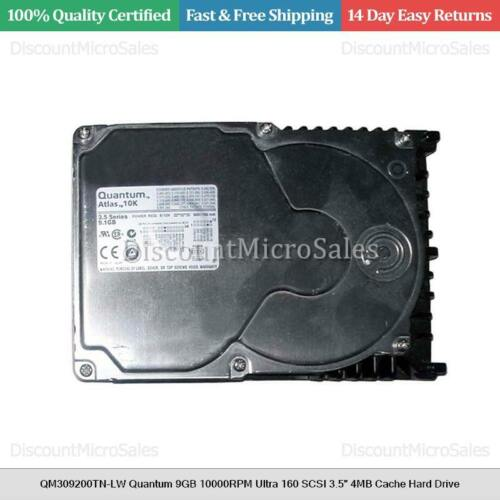 "QM309200TN-LW Quantum 9GB 10000RPM Ultra 160 SCSI 3.5/"" 4MB Cache Hard Drive"