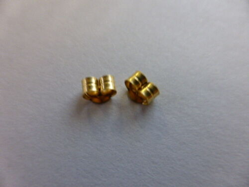 9ct YELLOW GOLD earring backs//scrolls MEDIUM size 2 pairs