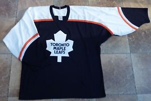 Large-CCM-Hockey-Practice-Jersey-NHL-039-s-Toronto-Maple-Leafs-Embroidered-Logo
