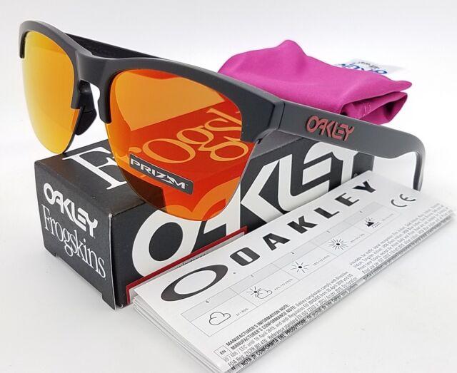 5fa4bc3f2c3 NEW Oakley Frogskins Lite sunglasses Black Prizm Ruby 9374-04 GENUINE  9374-0563