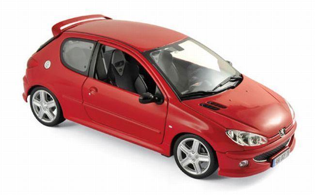 Peugeot 206 RC (2003) aden rosso 1 18 Norev 184823