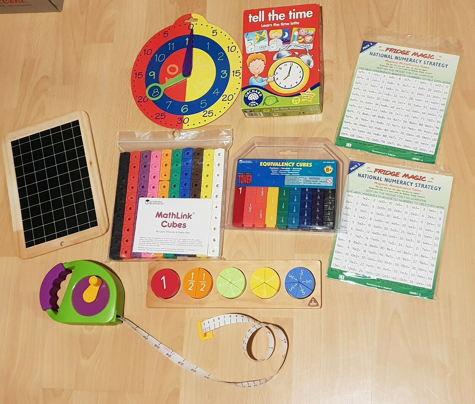 EARLY LEARNING, TIME, MATHS, COUNTING FRWirkungS BUNDLE New and used