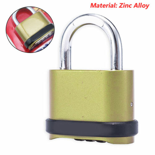 Password Padlock 4 Digit Combination Zinc Alloy Lock Security For Sheds Gate