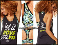 Zumba 2pc.set Instructor Loose Tank Let It Move You +voltage Bra Top Elitezwear