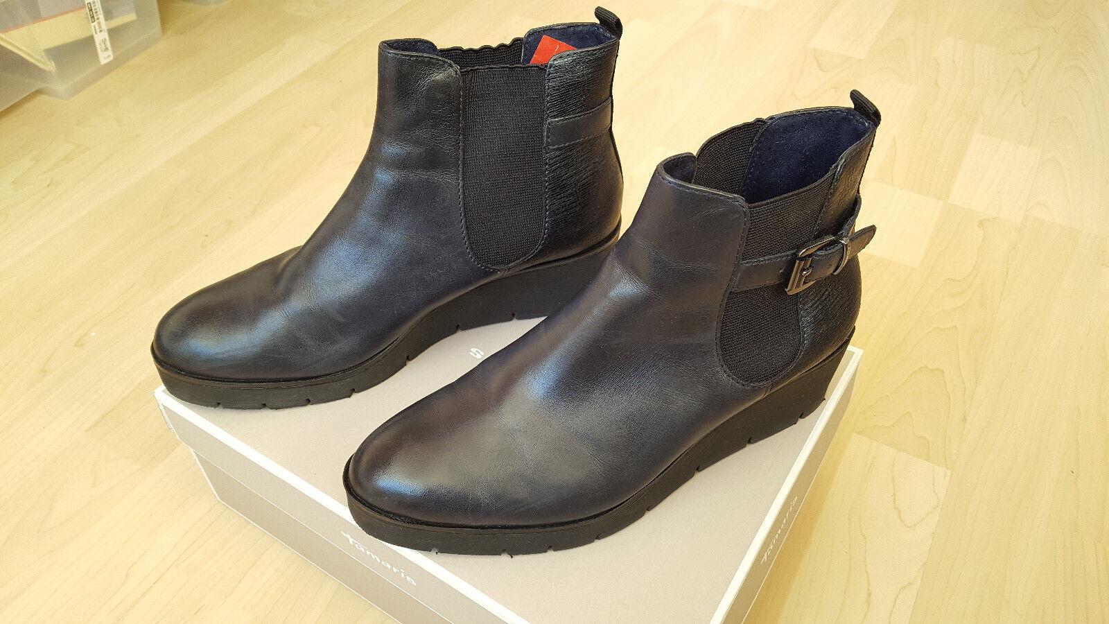 TAMARIS SEHR Damen Leder 38 Schuhe Stiefeletten Gr. 38 Leder SEHR TAMARIS GUT ... 9102da