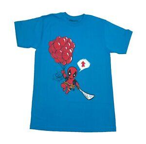 Marvel-Kawaii-Deadpool-99-Red-Balloons-Going-Up-Mens-T-Shirt