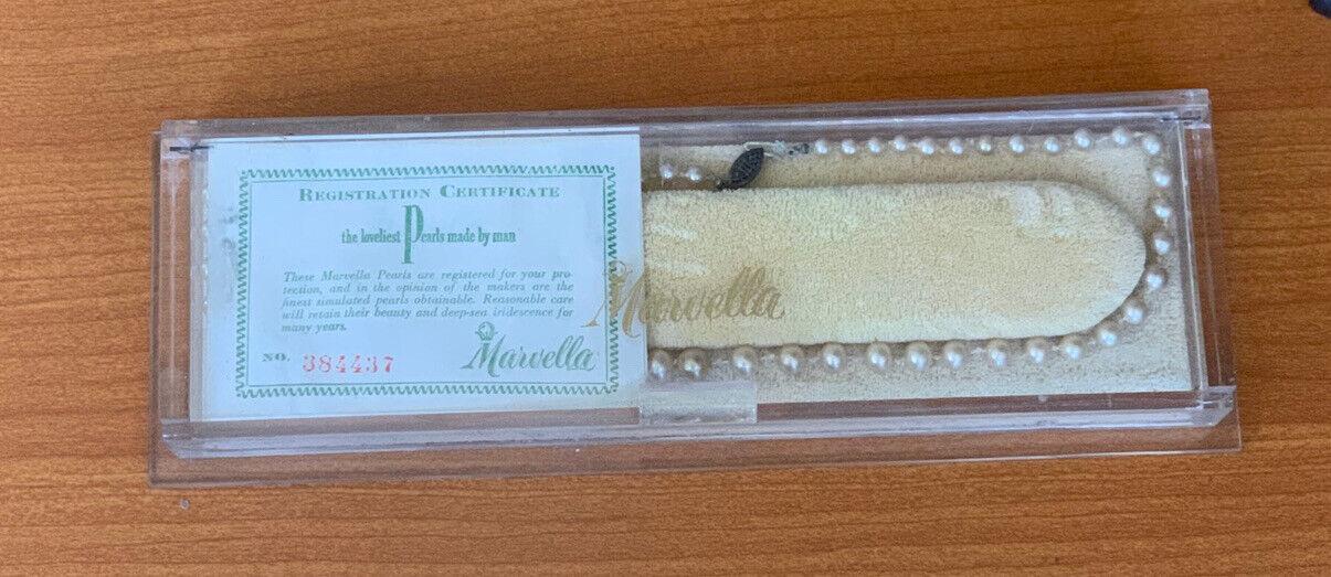 Marvella Vintage Single Strand Faux Pearl Necklace - image 4
