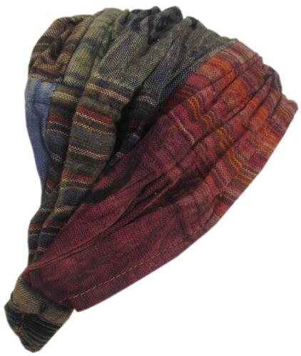 Dehnbar Böhmische Baumwolle Mehrfarbig Handgefertigt Elastisch Boho Stirnband