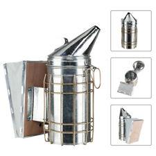 11 Bee Hive Smoker Stainless Steel Withheat Shield Calming Beekeeping Equipment