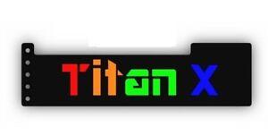BLACK-RGB-Addressable-LED-Backlit-TITANX-GPU-Anti-Sag-Support-Bracket-Remote