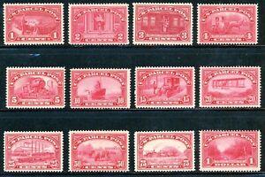 USAstamps-Unused-FVF-US-1912-Parcel-Post-Complete-Set-Scott-Q1-Q12-OG-MNH