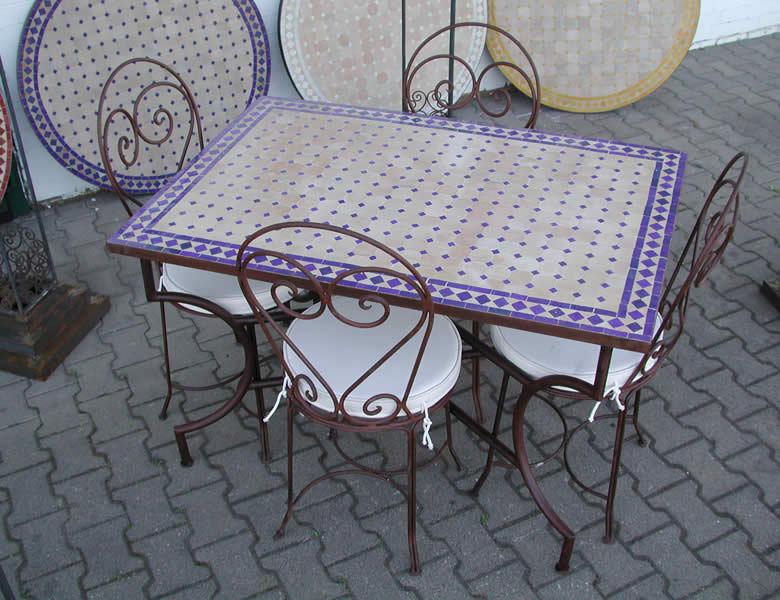 Mosaico mesa de comedor 120 x 80 cm mesa de jardín muebles jardín mesa de mosaico terraza