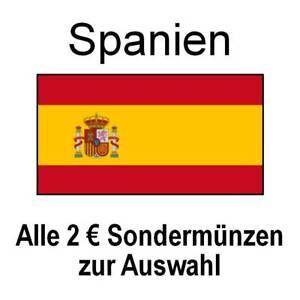 Spanien - alle 2 Euro Sondermünzen Gedenkmünzen - alle Jahre - bankfrisch unc.