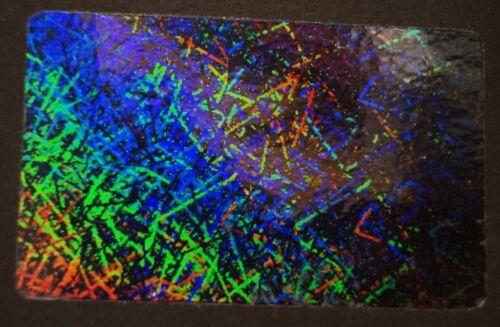 Hologram Overlays Confetti Overlay Inkjet Teslin ID Cards Lot of 10