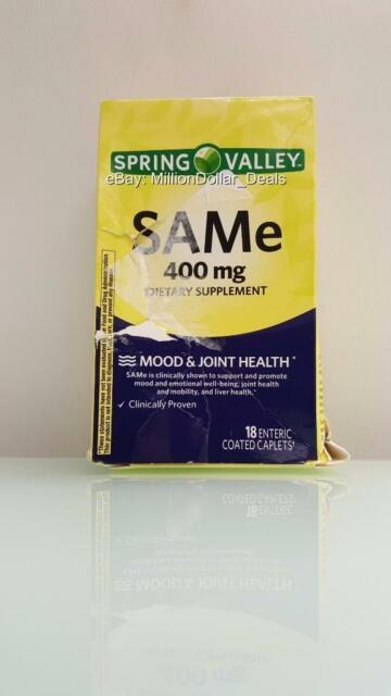 Spring Valley SAMe 400 mg Mood & Joint Health - 18 Enteric Coated Caplets
