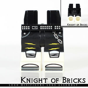 LEGO Black Minifig Legs with Kneepads and Belt