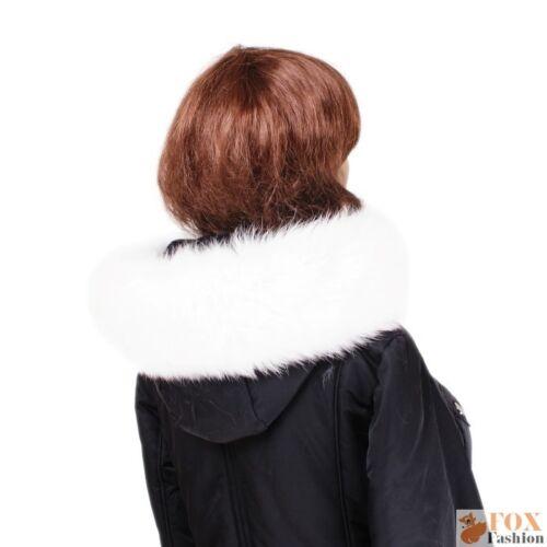 Fellkapuze Pelzstreifen aus Weiß Fuchsfell Pelz Kapuzen Fell Kragen Fell Besatz
