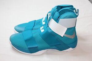 369a697b2b9 Nike LeBron Soldier 10 X 856489-332 Turquoise White Size 17.5 Retail ...