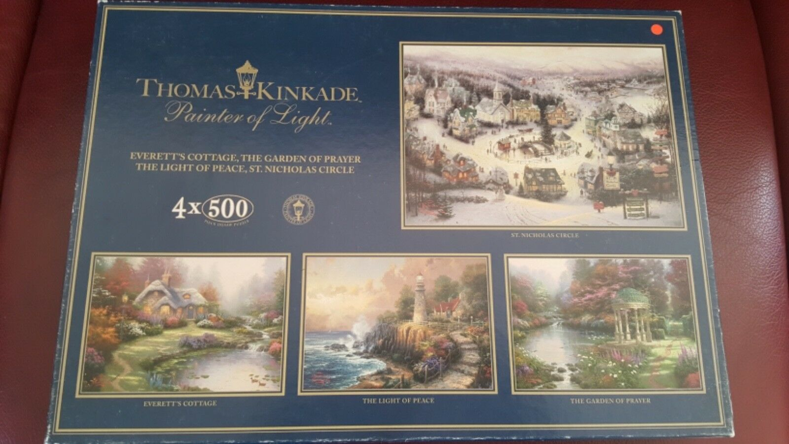 Gibsons Thomas Kinkade 4 x 500 Piece Jigsaw Puzzles RRP  - VGC Complete