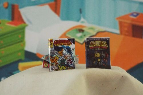 2  Miniature OPENING /' Guardians of the Galaxy /' Comics Dollhouse  1:12 scale