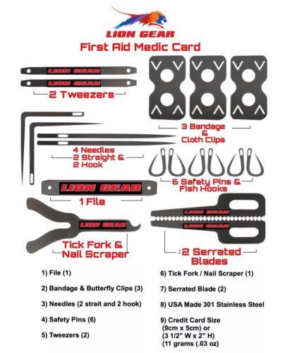 .EDC SURVIVAL CARD COMBO SET Credit Card Size 4 Card Tools /& 1 Axe