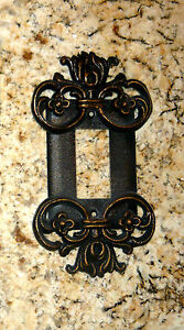 Old World Medieval Metal Single Rocker Decorator Switch Plate Cover for wall