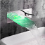 Bathroom-Wall-Mount-Basin-Tub-Mixer-LED-Waterfall-Faucet-Single-Lever-Brass-Taps thumbnail 8