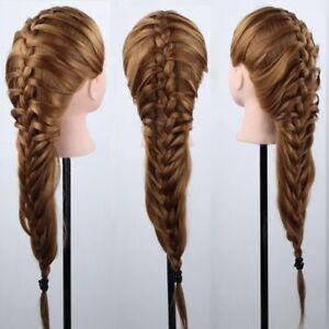 AU-22-039-039-24-039-039-100-Human-Hair-Train-Head-Mannequin-Makeup-Clamp-Hairdressing-Multi