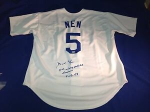 Dick Nen signed Los Angeles Dodgers Jersey PSA\DNA COA# 4A88867