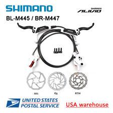Shimano Alivio M445 Hydraulic Disc Brake Caliper Set White LF900mm RR1450mm