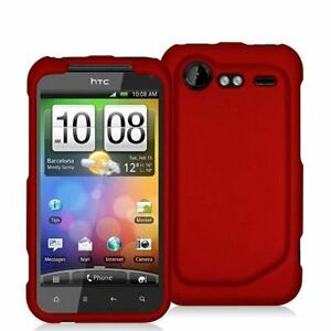 Hard-Rubberized-Case-for-HTC-Droid-Incredible-2-Red
