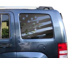 Jeep KK KJ SUV Banner Vinyl Silver LIBERTY Hood Decal Stickers ...