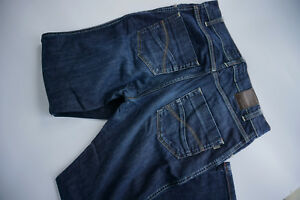 GIORGIO-Herren-Men-stretch-Jeans-Hose-33-34-W33-L34-stonewas-darkblue-TOP-AD23