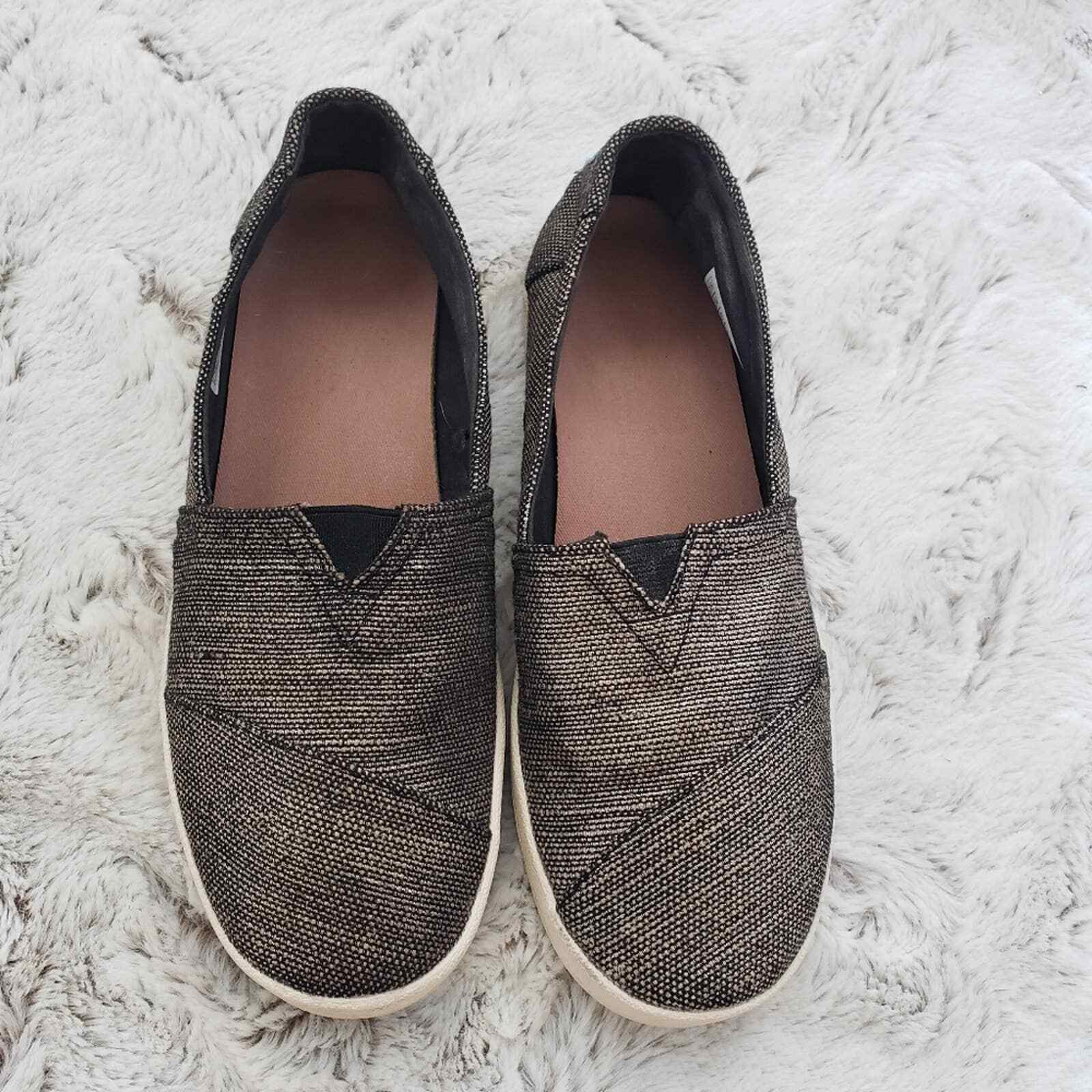 TOMS WOMENS AVALON SLIP ON SHOES SIZE 7.5