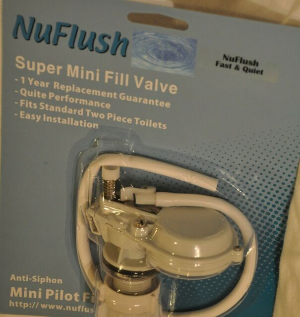Nuflush Smart Quiet Mini Pilot Toilet Fill Valve For