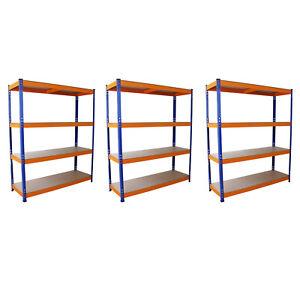 3-Estanterias-Metalicas-Acero-Inoxidable-Sin-Tornillos-Azules-y-Naranjas-150cm