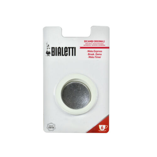 Filtersieb Gummidichtungen für 9 Espressotassen Espressokocher 3-tlg BIALETTI