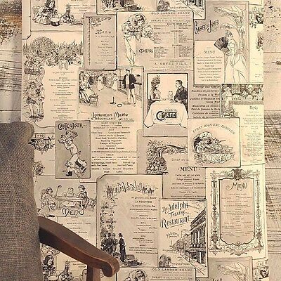 Antique Black White Restaurant Diner Menu Classic Gray Cafe Theme Wallpaper