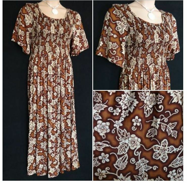 FRANKEN BROWN Short Sleeve SUMMER MAXI DRESS HOLIDAY T PARTY Plus SIZE 12 - 14