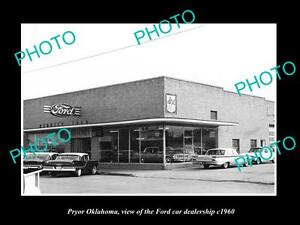 OLD-LARGE-HISTORIC-PHOTO-OF-PRYOR-OKLAHOMA-THE-FORD-CAR-DEALERSHIP-c1960