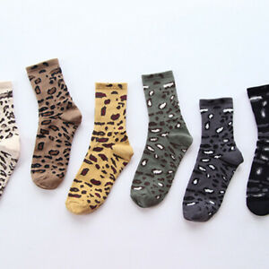 Leopard-socks-women-039-s-autumn-winter-socks-cotton-Japanese-pile-socks