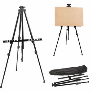 Artist-Folding-Painting-Easel-Adjustable-Tripod-Display-Stand-W-Floor-Metal-Bag