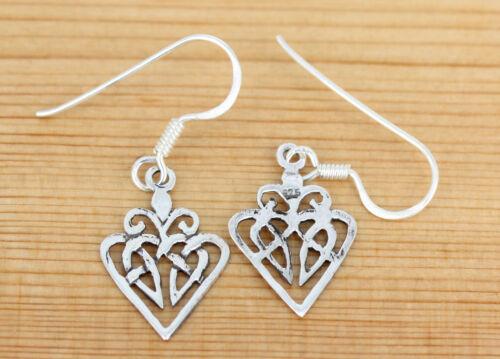 Keltische  Knoten Herz    R-93 Silber Ohrringe